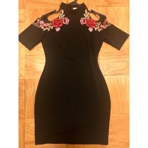 Little Black Dress with floral detail
